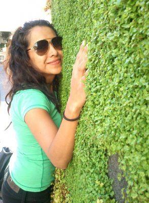 cynthia villalba with greenwall