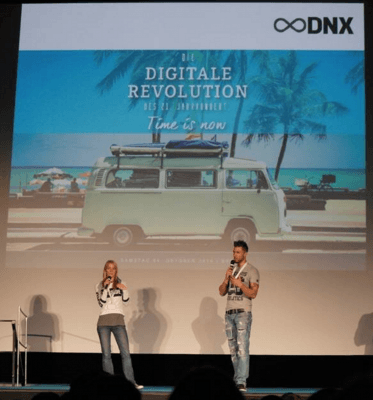 marcus-meurer-and-felicia-hargarten-on-stage-dnx-conference