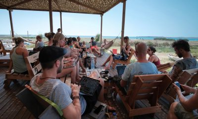 laura-petersen-teaching-a-podcasting-course-in-lemnos-greece