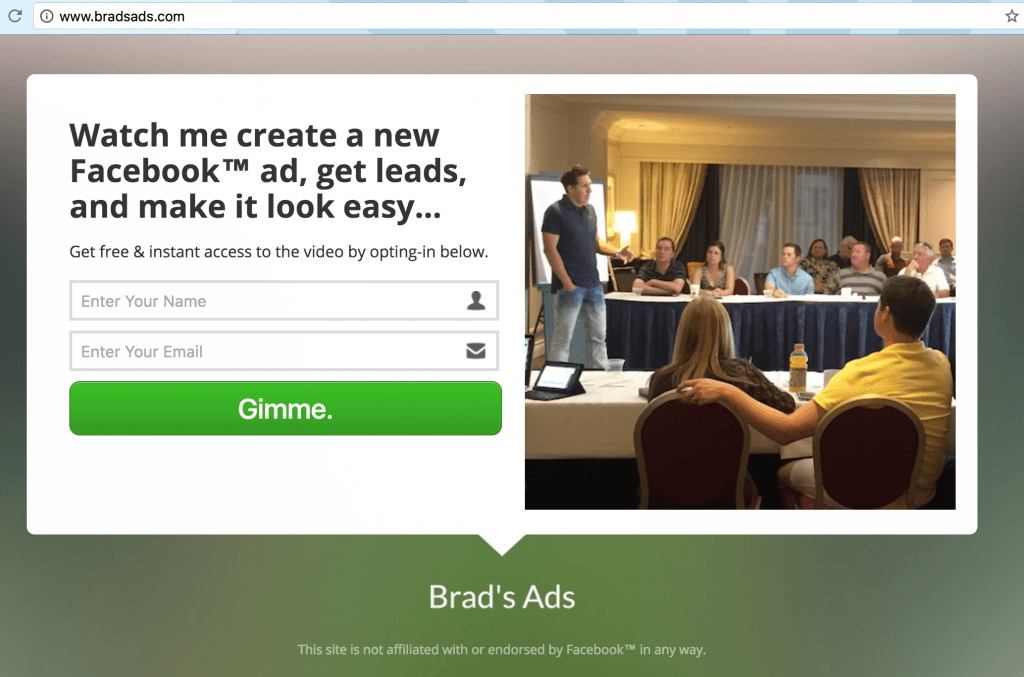 brads ads facebook ads great copy example