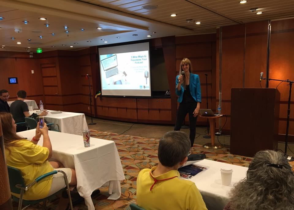 presenting at podcast cruise public speaking laura petersen