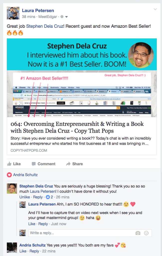 testimonial from stephen dela cruz on amazon best seller