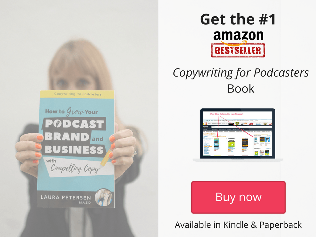 amazon best selling book copywriting for podcasters