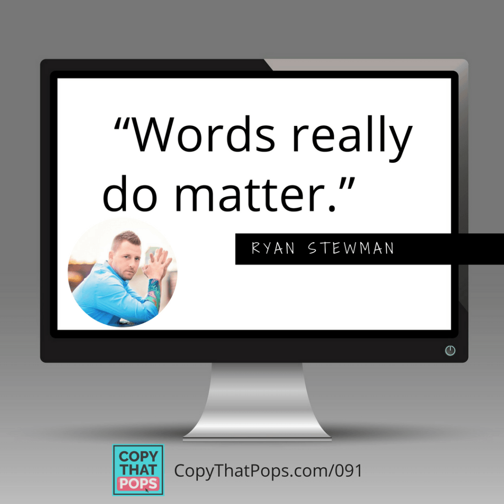 "091 Ryan Stewman Social Media share on Sales Psychology and the quote ""words really do matter"""