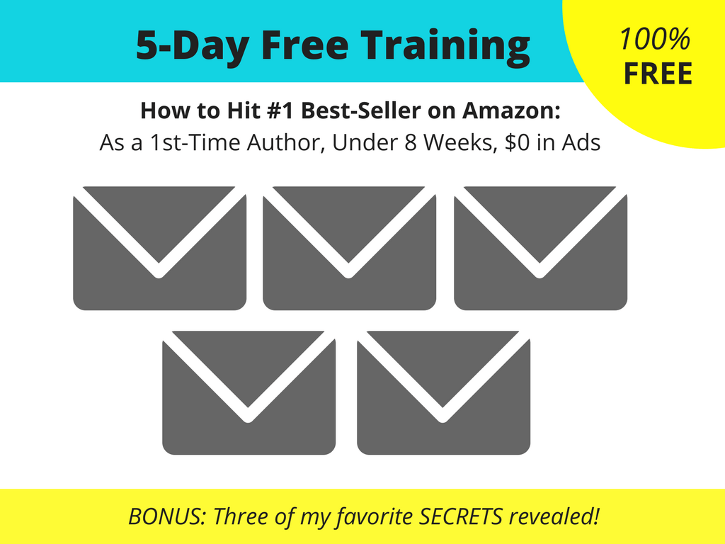 5 day free training to write publish market and hit best-seller with a business book on amazon