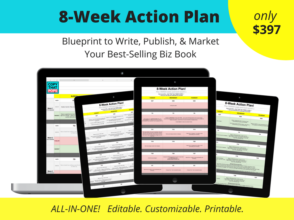 8 week plan to write publish market and hit best-seller with a business book on amazon