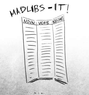 Madlibs your ideas and get surprised by unexpected combinations.