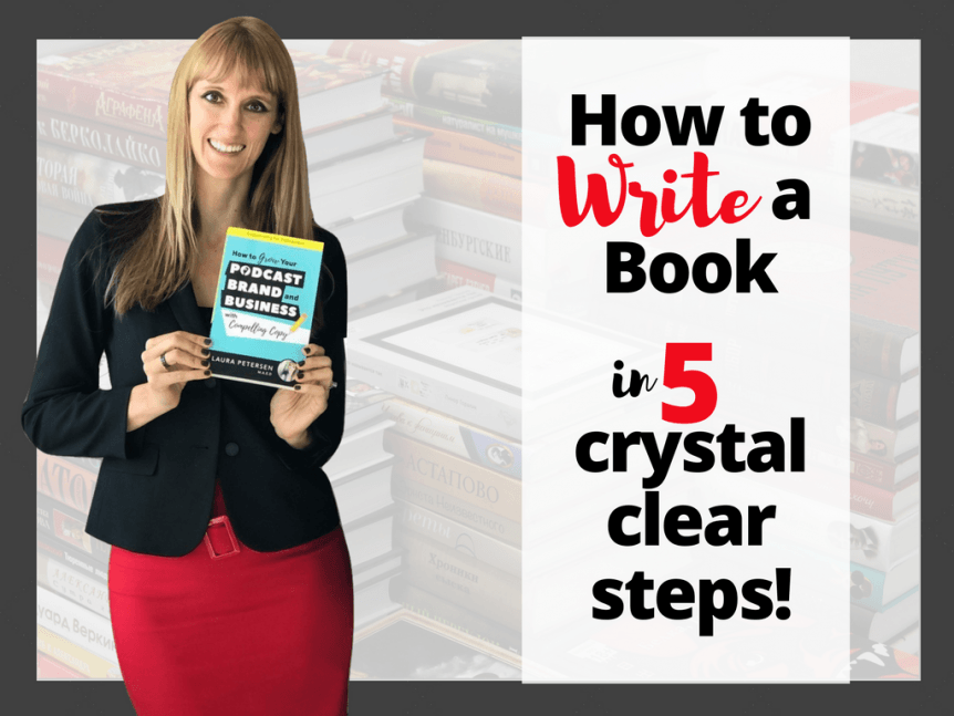 how to write a book in 5 crystal clear steps blog image