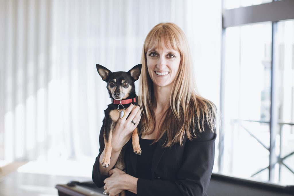 laura petersen and tuck the dog