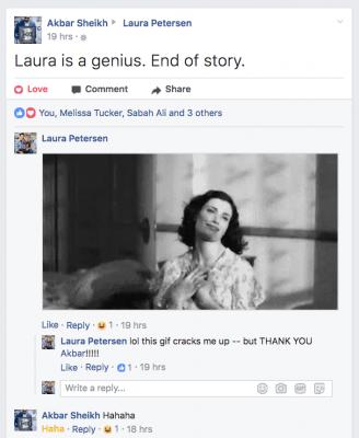 akbar international best selling author says laura petersen is a genius end of story facebook